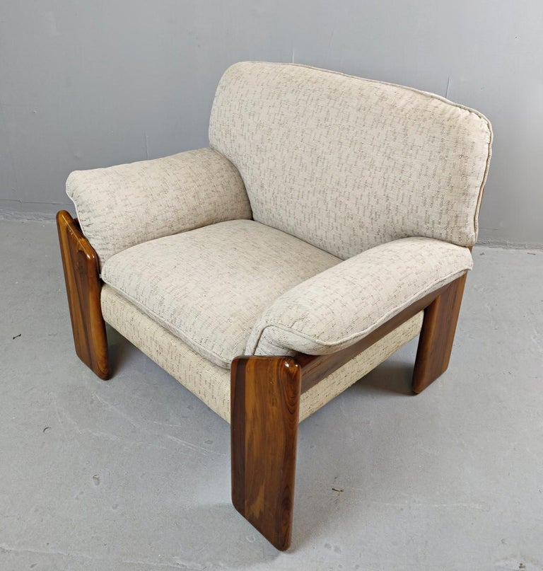 Wood Pair of Mario Marenco Armchairs, Italy, 1980s For Sale