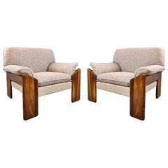 Pair of Mario Marenco Armchairs, Italy, 1980s
