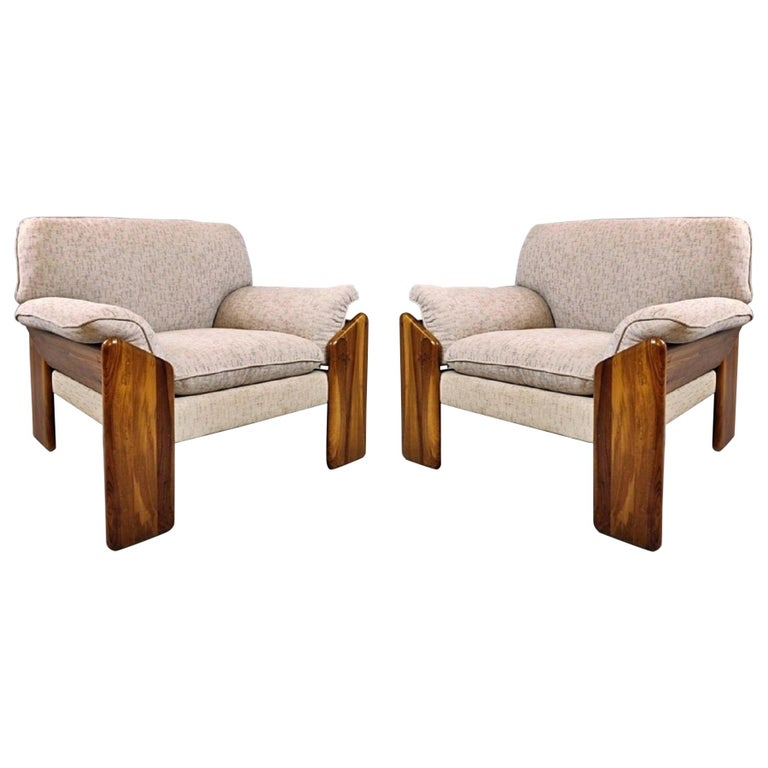 Pair of Mario Marenco Armchairs, Italy, 1980s For Sale