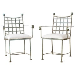 Pair of Mario Papperzini for Salterini Style Garden Chairs