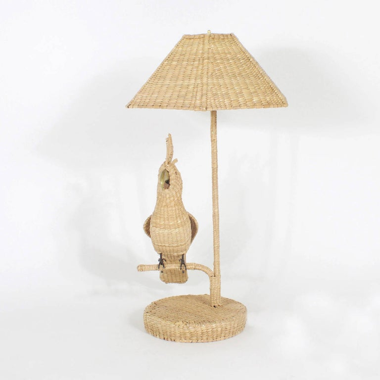 Pair of Mario Torres Cockatoo Table Lamps In Good Condition For Sale In Palm Beach, FL