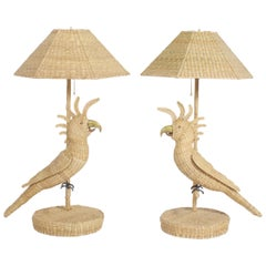 Pair of Mario Torres Cockatoo Table Lamps