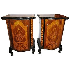 Pair of Marquetry Nightstands