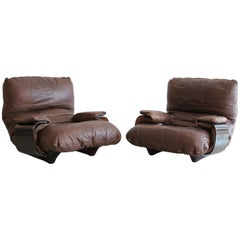 Pair of Marsala Lounge Chairs by Michel Ducaroy for Ligne Roset
