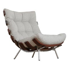 "Pair of Martin Eisler and Carlo Hauner ""Costela"" Lounge Chair, Brazil, 1950s"