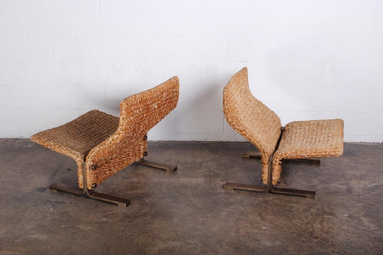 Pair of Marzio Cecchi Rope Lounge Chairs 5