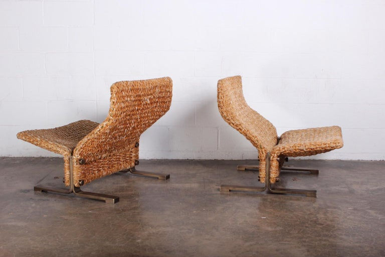 Pair of Marzio Cecchi Rope Lounge Chairs 6