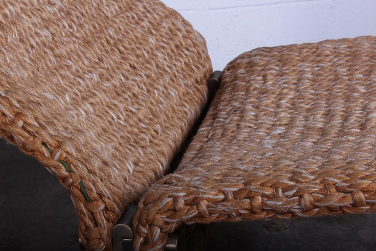 Pair of Marzio Cecchi Rope Lounge Chairs 1