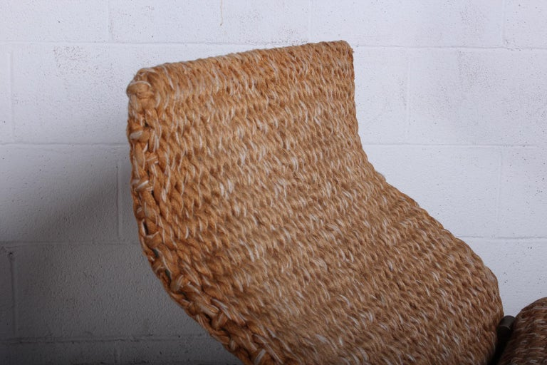 Pair of Marzio Cecchi Rope Lounge Chairs 2