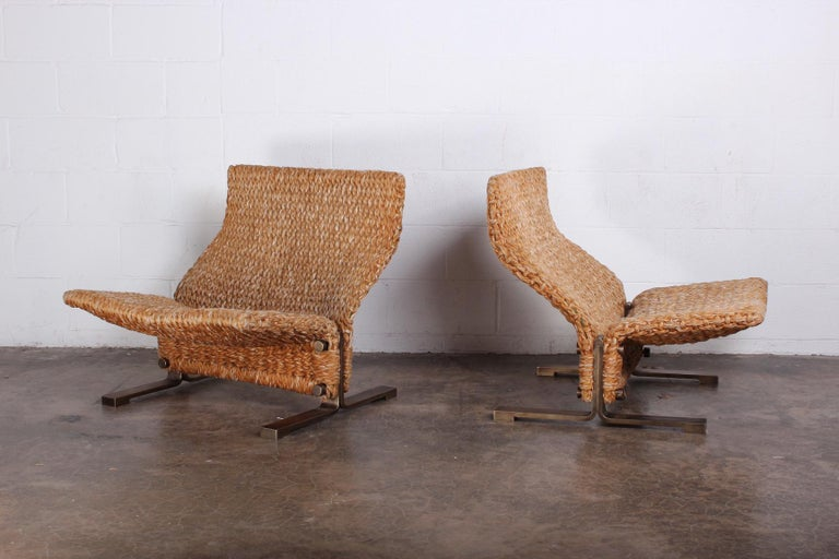 Pair of Marzio Cecchi Rope Lounge Chairs 3