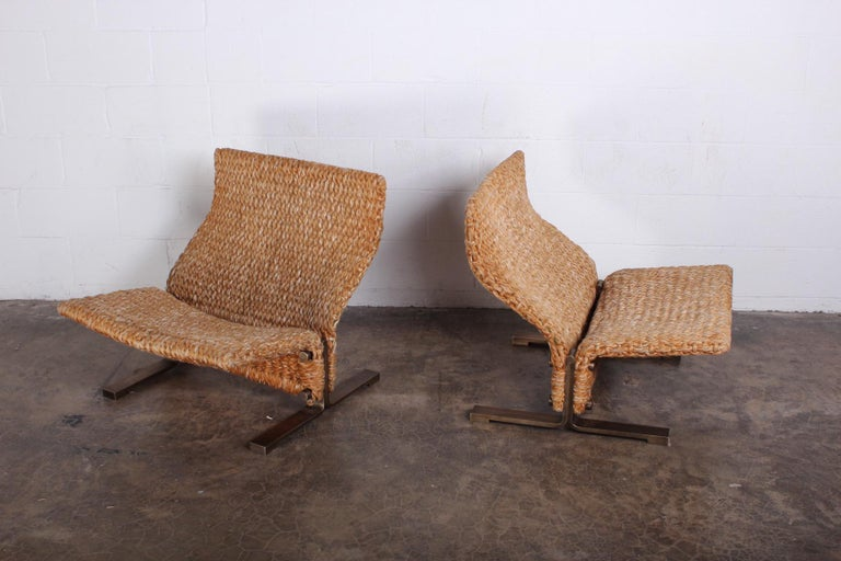 Pair of Marzio Cecchi Rope Lounge Chairs 4