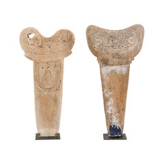 Pair of Massim Canoe Splash Boards from Papua, New Guinea
