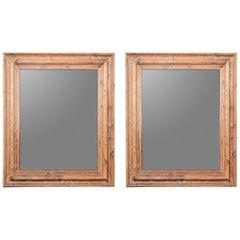 Pair of Massive Ralph Lauren Mirrors Using Wood from an Irish Castle