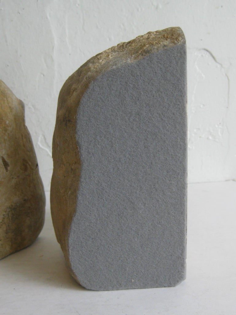Pair of Massive Vintage Natural Geode Stone Rock Sculptural Bookends For Sale 9