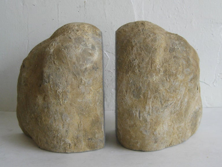 Pair of Massive Vintage Natural Geode Stone Rock Sculptural Bookends For Sale 10