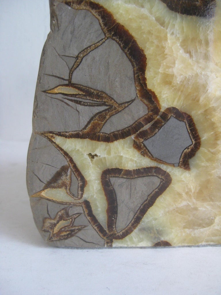 Pair of Massive Vintage Natural Geode Stone Rock Sculptural Bookends For Sale 2