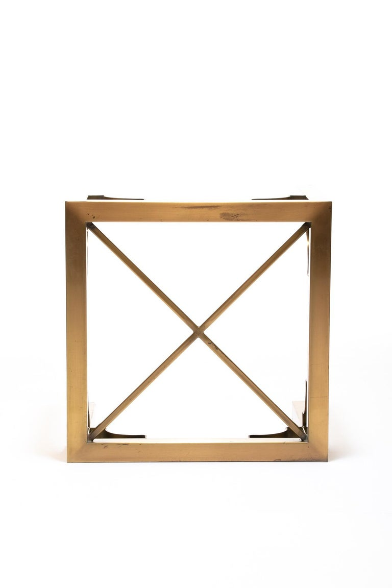 Pair of Mastercraft Brass Side Tables, circa 1970 For Sale 1