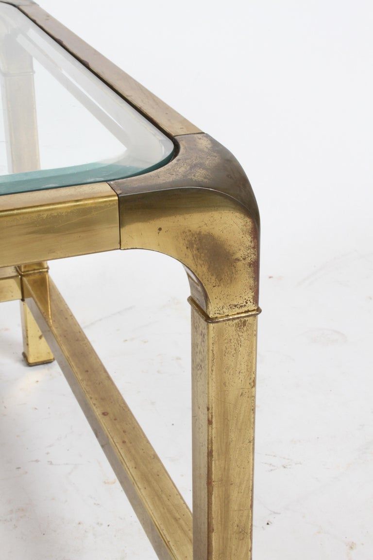 Pair of Mastercraft Mid-Century Brass End Tables For Sale 4