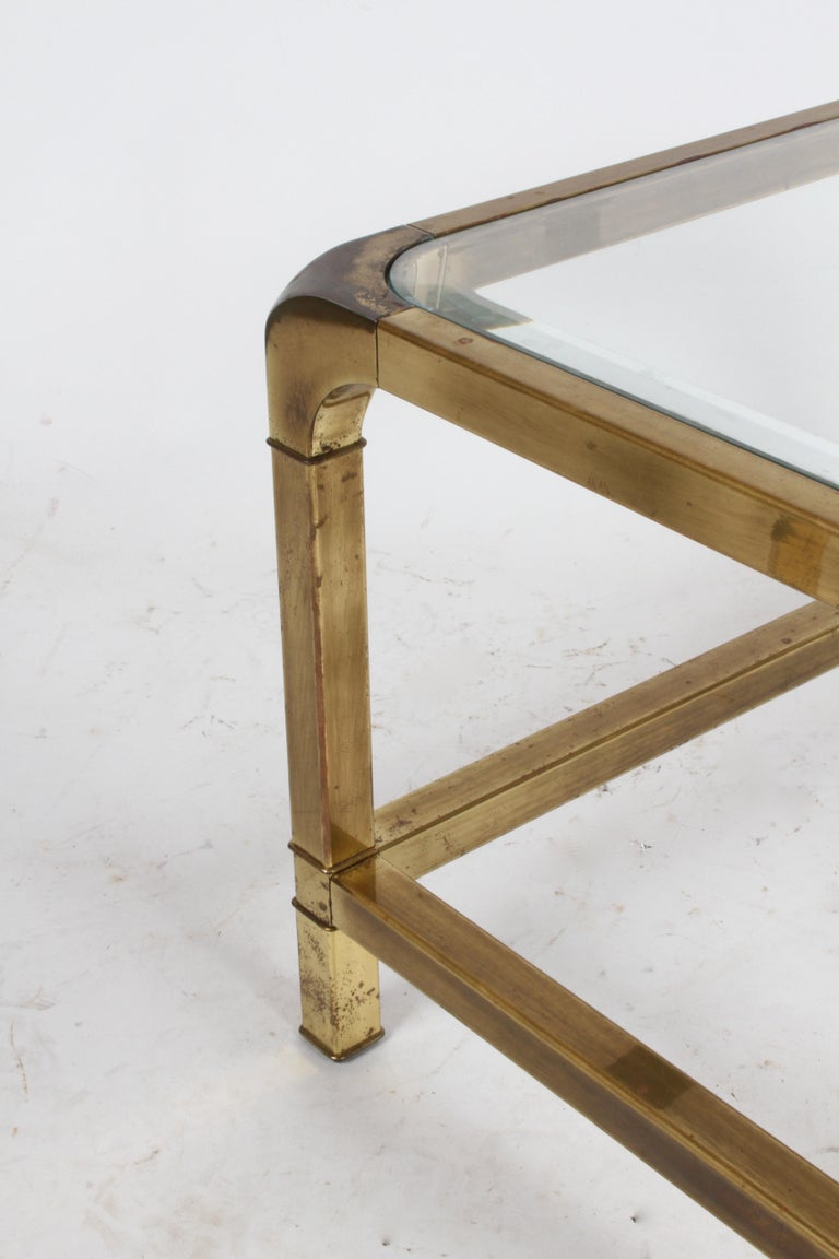 Pair of Mastercraft Mid-Century Brass End Tables For Sale 5