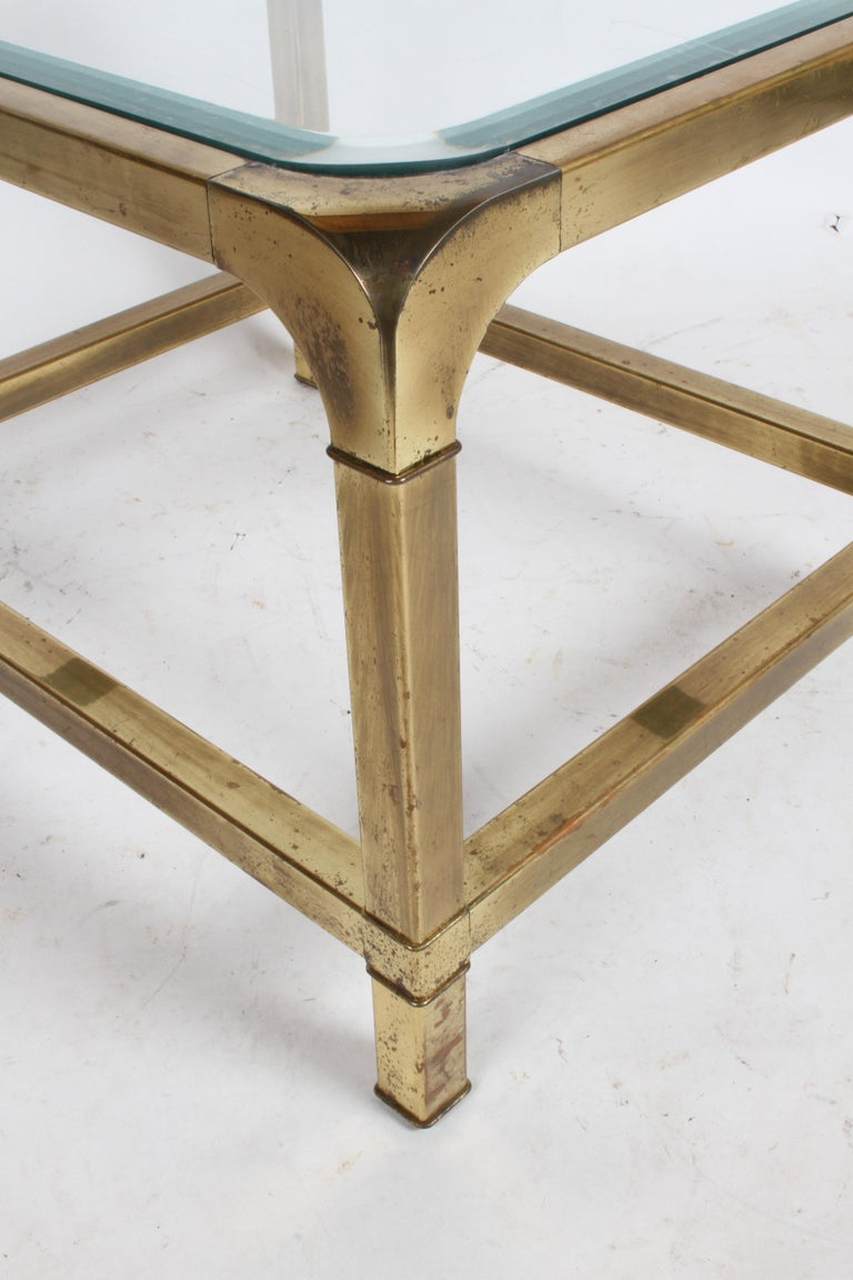 Pair of Mastercraft Mid-Century Brass End Tables For Sale 6