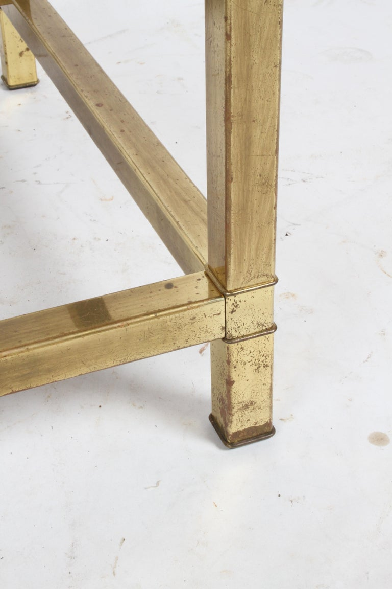Pair of Mastercraft Mid-Century Brass End Tables For Sale 7