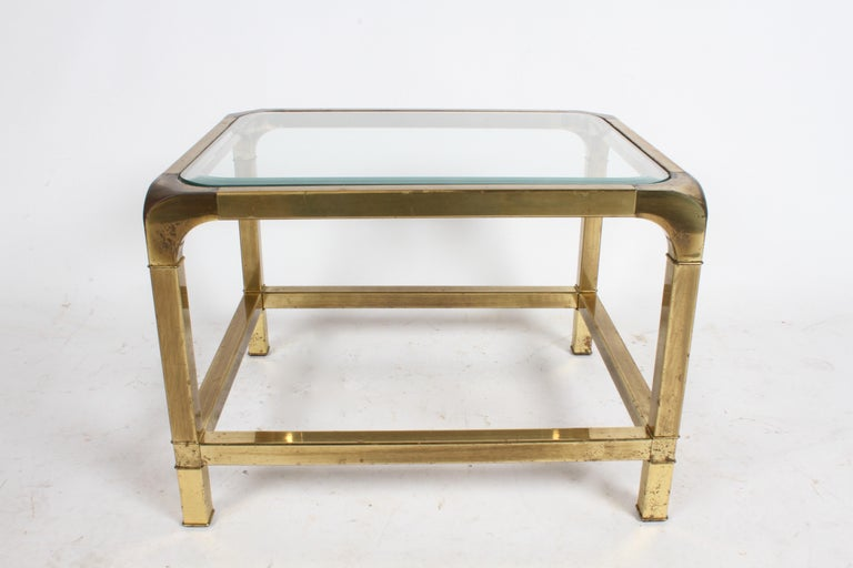 Pair of Mastercraft Mid-Century Brass End Tables For Sale 8