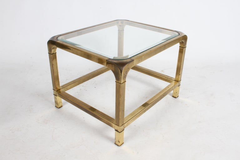 Pair of Mastercraft Mid-Century Brass End Tables In Good Condition For Sale In St. Louis, MO