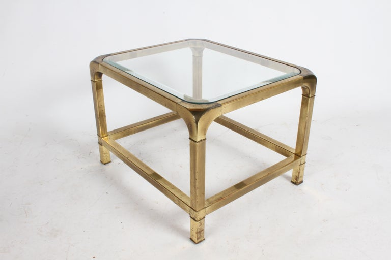 Pair of Mastercraft Mid-Century Brass End Tables For Sale 1