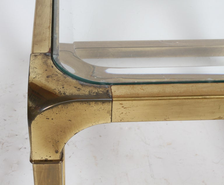 Pair of Mastercraft Mid-Century Brass End Tables For Sale 3