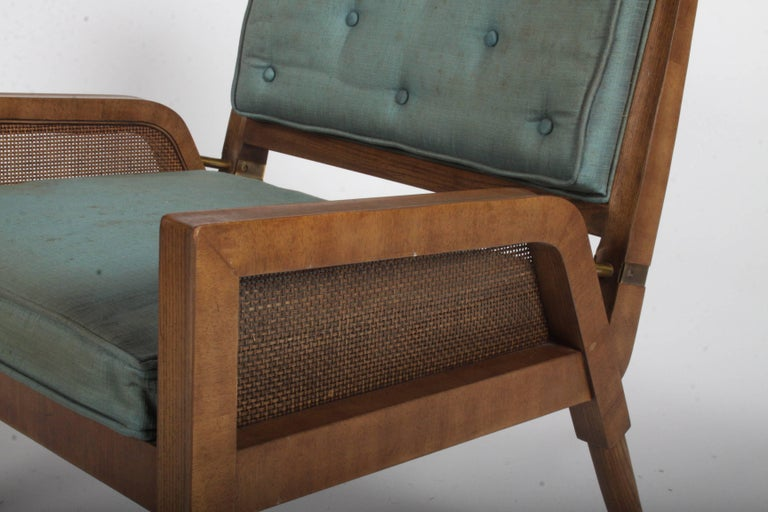 Pair of Mastercraft Mid-Century Modern Lounge Chairs In Good Condition For Sale In St. Louis, MO
