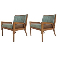 Pair of Mastercraft Mid-Century Modern Lounge Chairs