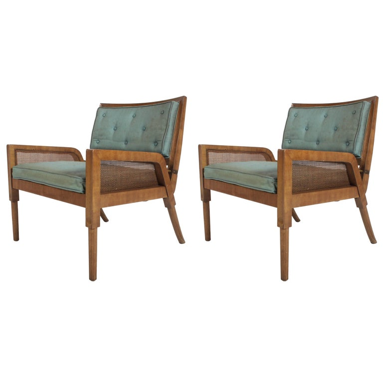 Pair of Mastercraft Mid-Century Modern Lounge Chairs For Sale