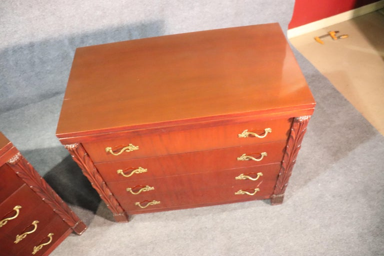 Pair of Matched John Stuart Hollywood Regency Dressers Chests, circa 1940 For Sale 5