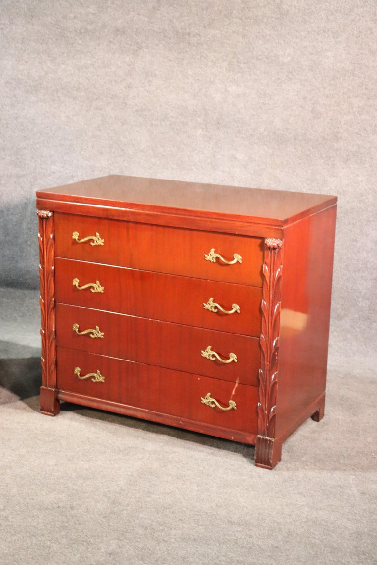 Mid-20th Century Pair of Matched John Stuart Hollywood Regency Dressers Chests, circa 1940 For Sale