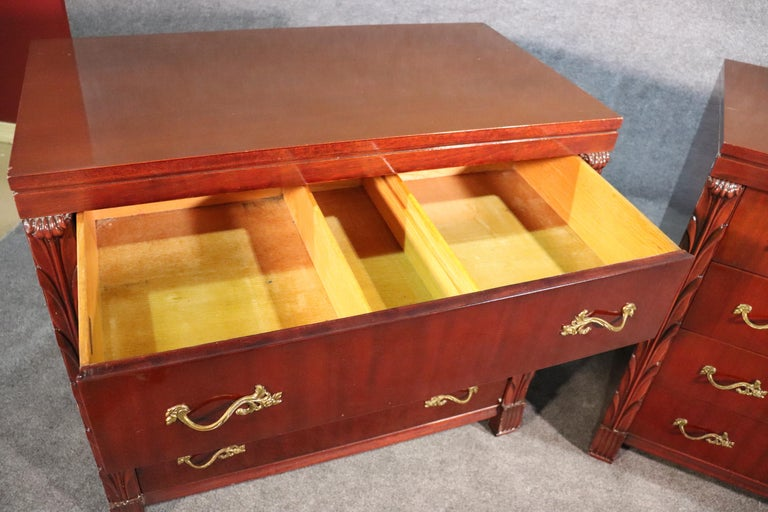 Pair of Matched John Stuart Hollywood Regency Dressers Chests, circa 1940 For Sale 2