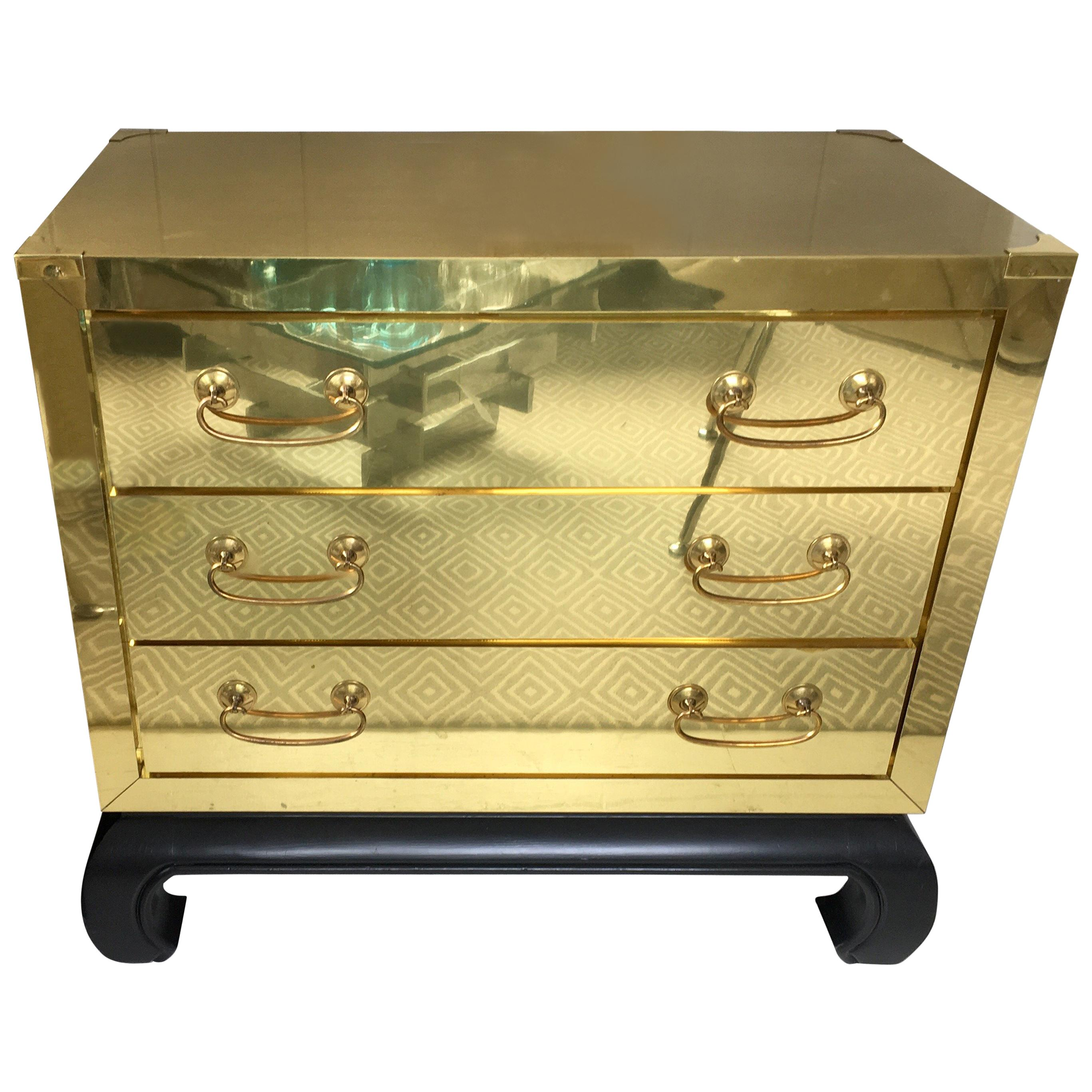 Pair of Matching Brass Campaign Chests