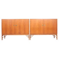 Pair of Matching Midcentury Cabinets in oak by Mogensen, Danish Design, 1960s