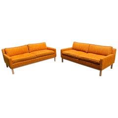 Pair of Matching Mid-Century Modern Sofas