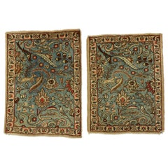 Pair of Matching Vintage Persian Tabriz Accent Rugs