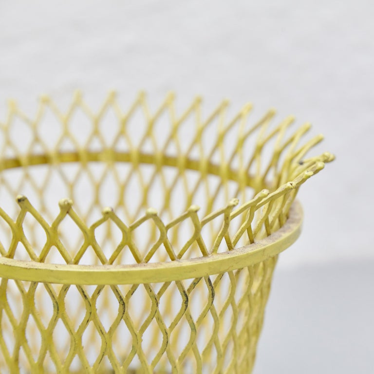 Mid-20th Century Pair of Mathieu Matégot, Mid Century Modern, Enameled Metal Basket, circa 1950 For Sale