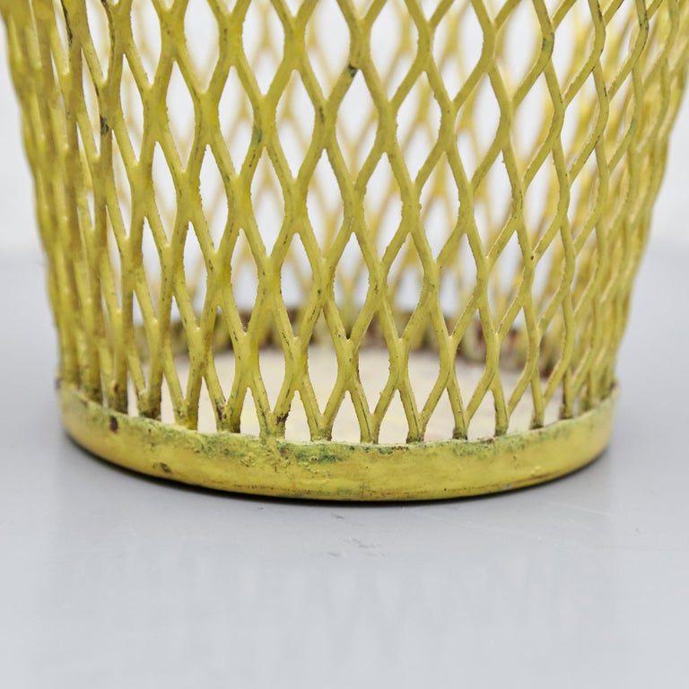 Pair of Mathieu Matégot, Mid Century Modern, Enameled Metal Basket, circa 1950 For Sale 2
