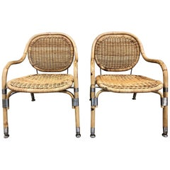 Pair of Mats Theselius Lounge Chairs