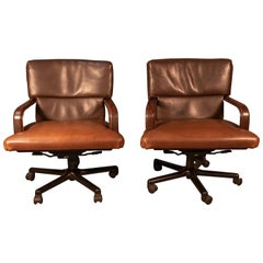 Pair of Matteo Grassi Swivel Office Chairs