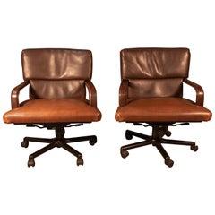 Pair of Matteo Grassi Swivel Office Chairs