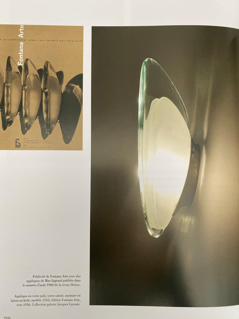 Pair of Max Ingrand Fontana Arte Glass Nickel Brass Sconces, Italy, 1960 For Sale 8
