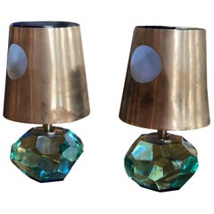 Pair of Max Ingrand Table Lamps Mod 2228 for Fontana Arte
