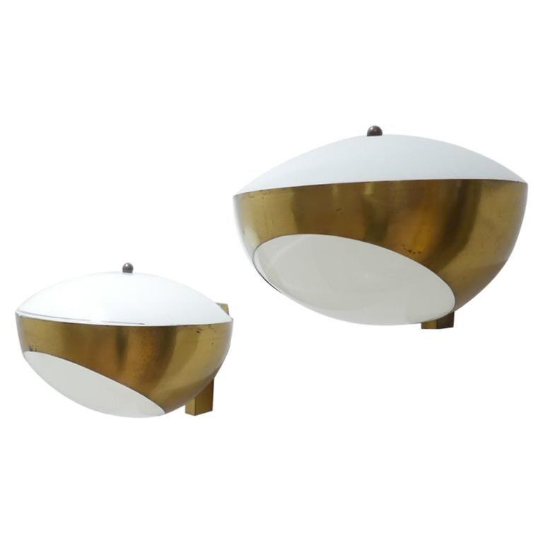 Pair of Max Ingrand Wall Lights '1963' Model for Fontana Arte