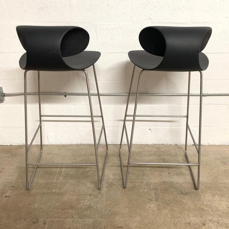 Modern Pair of Maxima Bar Stools by Sawaya & Moroni, 2002 For Sale