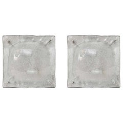 Pair of Mazzega Glass Wall Sconces