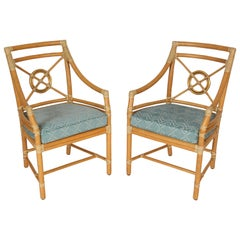 Pair of McGuire Armchairs